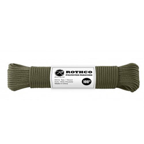 Rothco Polyester 550 Paracord 100 ft OD, , hi-res