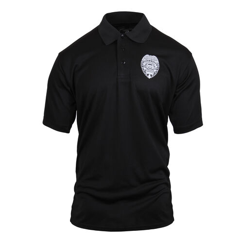 Rothco Moisture Wicking Security Polo Shirt With Badge, , hi-res