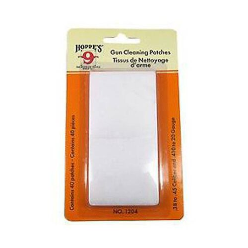 Hoppes Cleaning Patch .38-.45 40 Pack, , hi-res