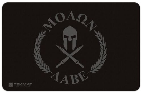 "TekMat Molon Labe ""Come and Take Them"" Gun Cleaning 11x17 Mat, , hi-res"
