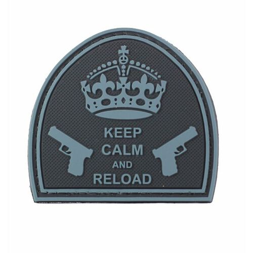 Keep Calm and Reload PVC Morale Patch, , hi-res