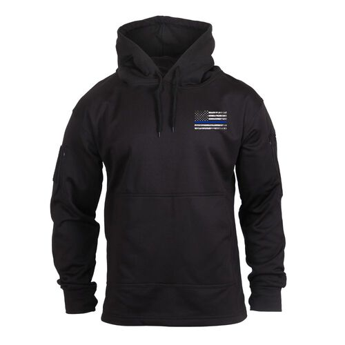 Rothco Thin Blue Line Concealed Carry Hoodie, , hi-res