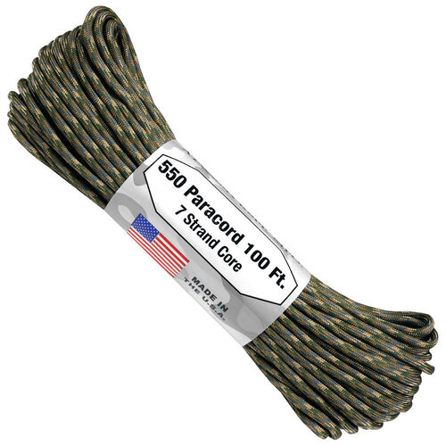 Atwood Rope 7 Strand 550 Paracord 100 ft (Multicam), , hi-res