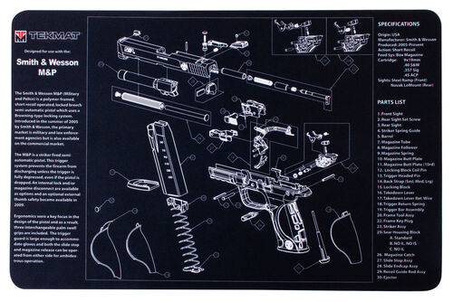 "TekMat S&W and M&P Double-Sided TekMat Gun 11""x17"" Cleaning Mat, , hi-res"