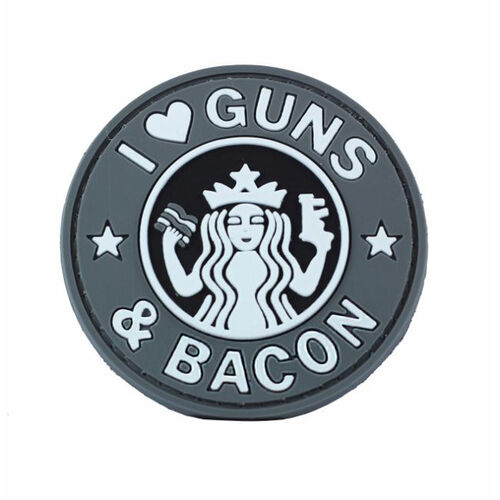 Guns And Bacon PVC Morale Patch, , hi-res