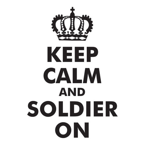 Keep Calm Soldier On Morale Car Decal, , hi-res