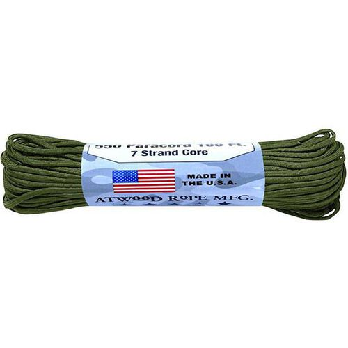 Atwood Rope 7 Strand 550 Paracord 100' OD, , hi-res
