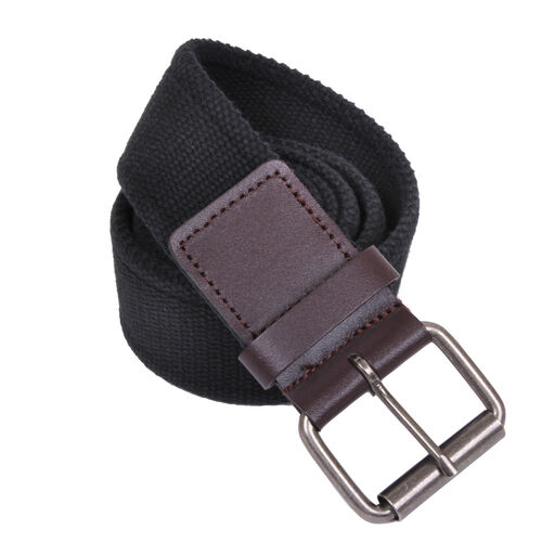Rothco Vintage Single Prong Web Belt With Leather Accents, , hi-res