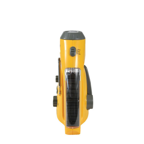 Rothco Yellow Solar / Handcrank Flashlight With Radio, , hi-res