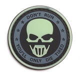 Don't Run You'll Die Tired PVC Morale Patch, , hi-res