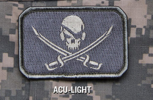 Pirate Skull Flag Patch Mil-Spec Monkey Morale Patch, , hi-res