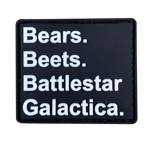 Bears. Beets. Battlestar Galactica Morale Patch, , hi-res