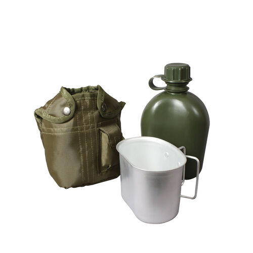 Rothco G.I. Type 1 Qt Plastic Canteen With Cover And Cup, , hi-res