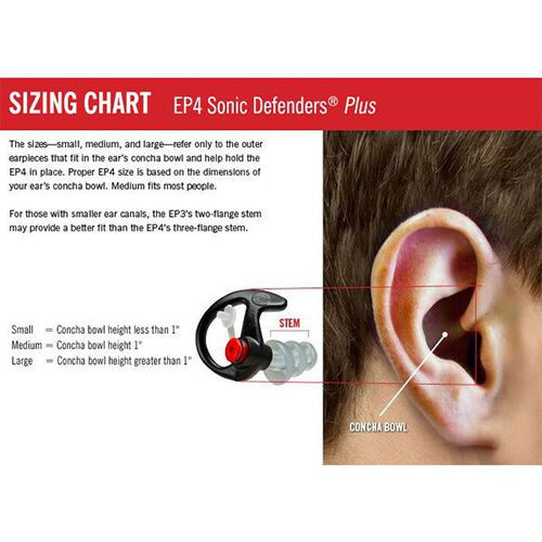 Surefire Sonic Defenders Plus Filtered Flanged Earplugs, , hi-res