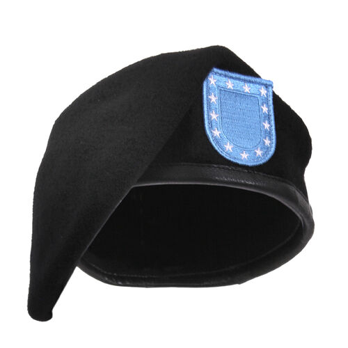Rothco Inspection Ready Black Beret With Flash, , hi-res