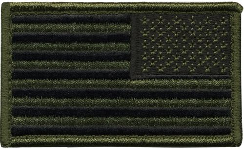 Hero's Pride Reverse US Flag Patch With Hook, , hi-res