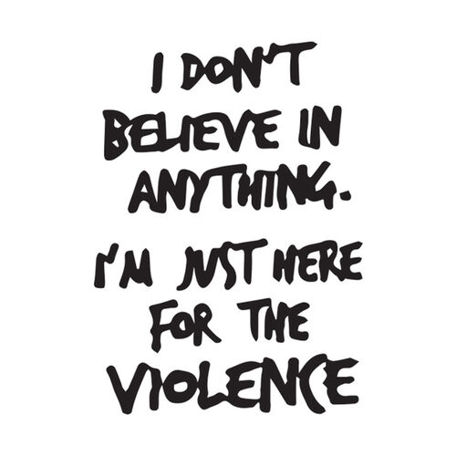 Here for Violence Morale Car Decal, , hi-res