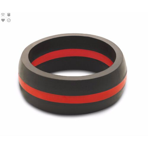 QALO Men's Thin Red Line Ring, , hi-res