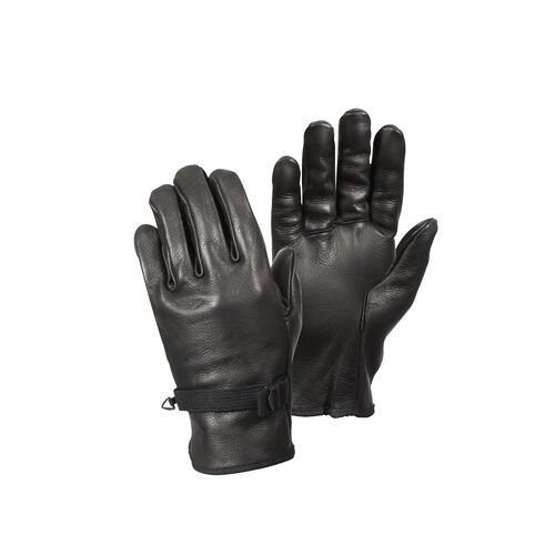 Rothco D-3A Black Leather Gloves, , hi-res