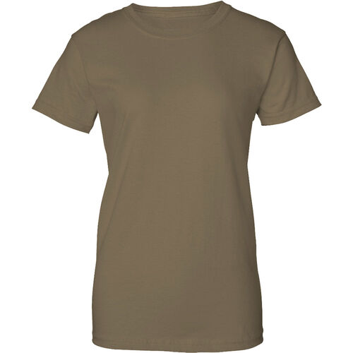 100% Cotton Women's Military T-Shirt (Coyote Brown), , hi-res