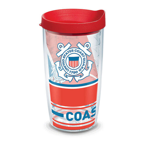 Tervis 16 oz Coast Guard Forever Proud Tumbler with Lid, , hi-res