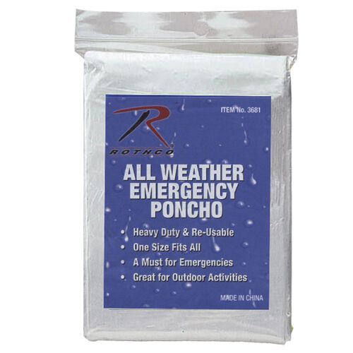Rothco All Weather Emergency Poncho, , hi-res