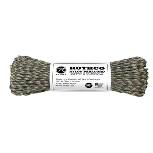 Rothco Polyester 550 Paracord 100 ft Camo, , hi-res