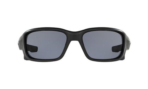 Oakley Straightlink Matte Black Sunglasses With Grey Lens, , hi-res