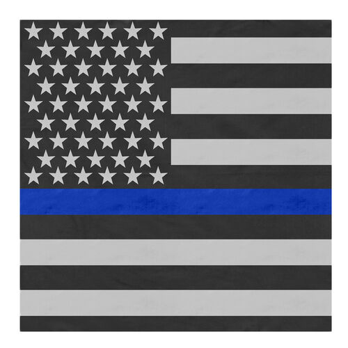 Rothco Thin Blue Line Flag Bandana, , hi-res