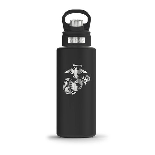Tervis Marine Corps 32 oz Wide Mouth Stainless Steel Water Bottle, , hi-res