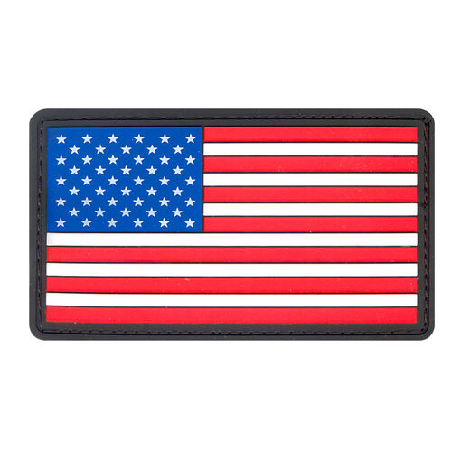 Rothco PVC US Flag Patch with Hook Back, , hi-res