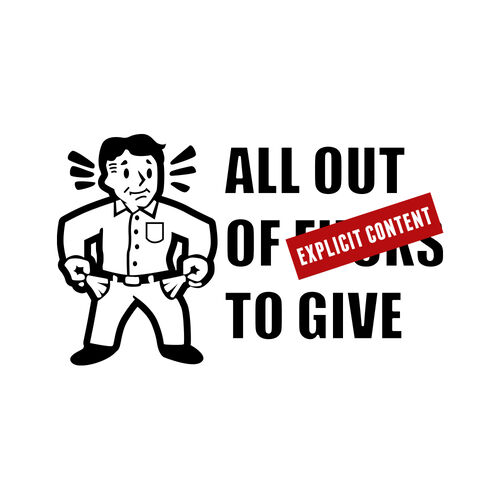 All Out of F*cks to Give Morale Car Decal, , hi-res