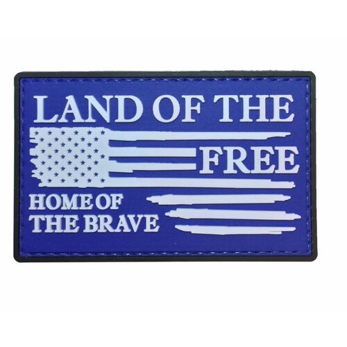 Nine Line Land Of The Free Pvc Patch, , hi-res