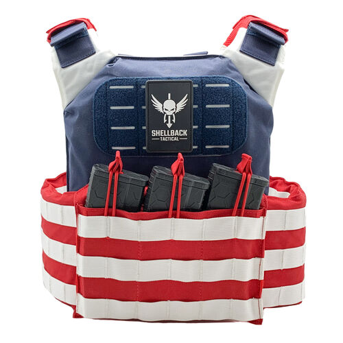 Shellback Tactical Stars and Stripes Plate Carrier, , hi-res