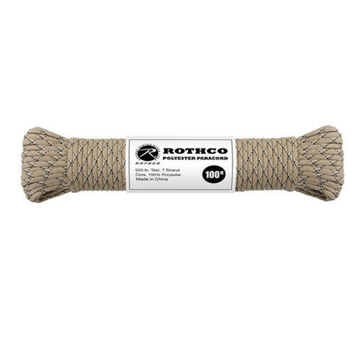 Rothco Polyester 550 Paracord 100 ft. Package, , hi-res