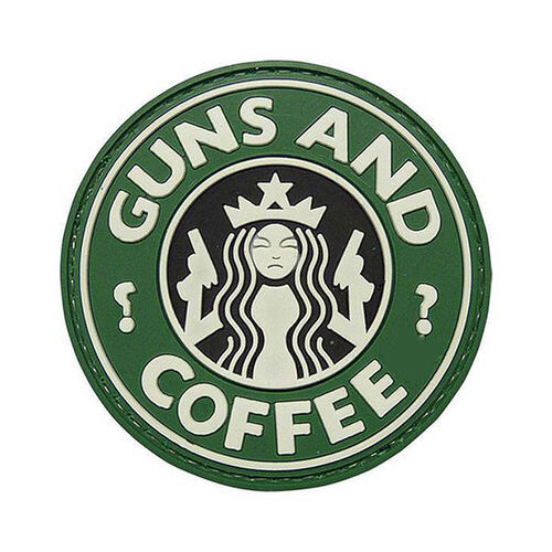 Guns and Coffee PVC Morale Patch, , hi-res