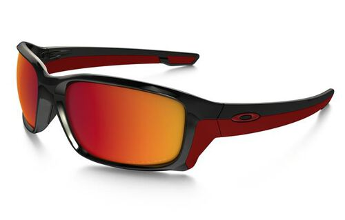 Oakley Straightlink Polished Black Frame Sunglasses With Torch Iridum Polarized Lens, , hi-res
