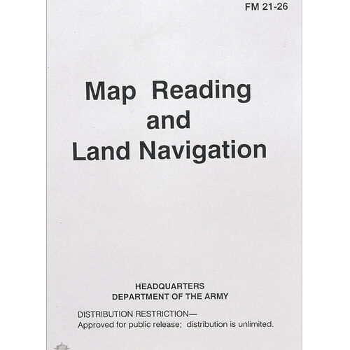 5ive Star Gear Map Reading / Land Nav FM 21-26 Manual, , hi-res