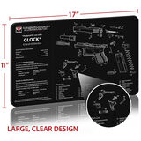 TekMat Glock 42 and 43 Gun Cleaning 11x17 Mat, , hi-res