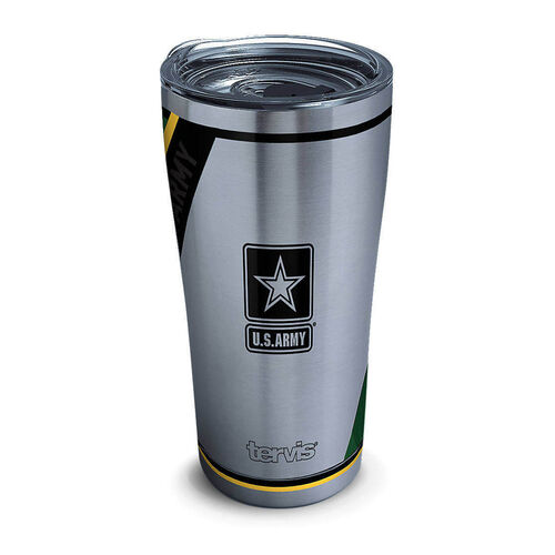 Tervis 20 oz Stainless Steel Army Tumbler with Lid, , hi-res