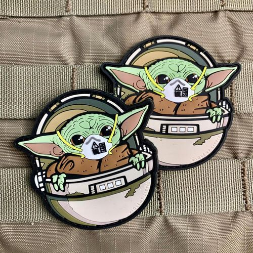 Baby Yoda COVID Morale Patch, , hi-res
