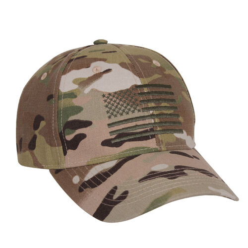 Rothco MultiCam Low Profile Cap With US Flag, , hi-res