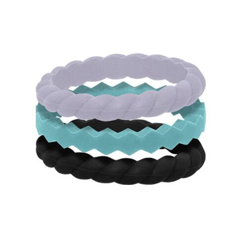 QALO Women's Stackable Silicone Ring Collections, , hi-res