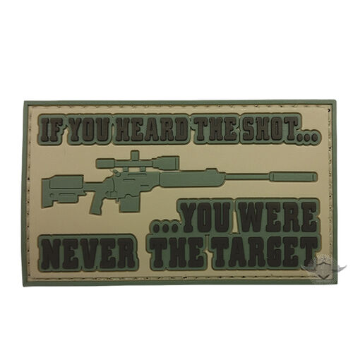5ive Star Gear Heard the Shot PVC Morale Patch, , hi-res