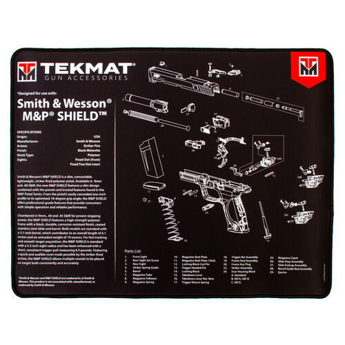 TekMat Smith and Wesson MP Shield Ultra Premium Gun Cleaning Mat, , hi-res