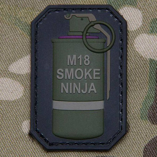 Mil-Spec Monkey Smoke Ninja PVC Patch, , hi-res