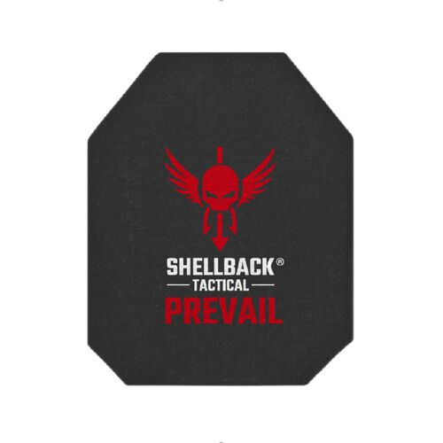 """Shellback Tactical Prevail Series Level IV Single Curve 10"""" x 12"""" Hard Armor Plate - Model 4S17, , hi-res"""