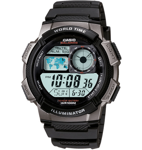 Casio Illuminator Digital Chronograph Watch, , hi-res