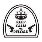 Keep Calm and Reload Morale Car Decal, , hi-res