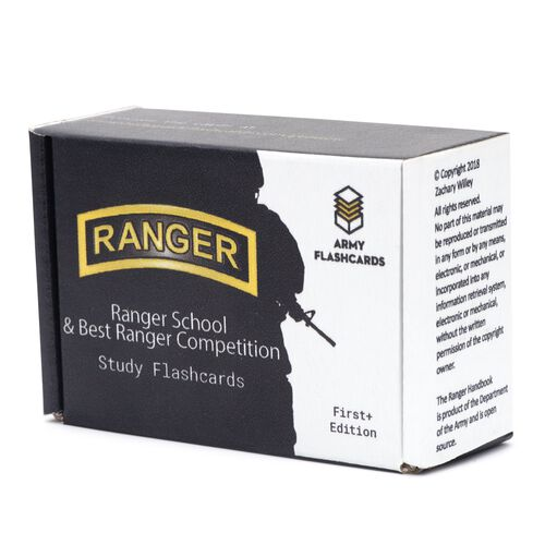 Army Flashcards Ranger School Best Ranger Competition Flashcards, , hi-res